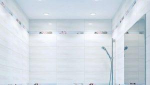 Carreau bleu dans la décoration de la salle de bain