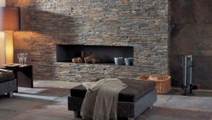 The use of natural stone for interior decoration
