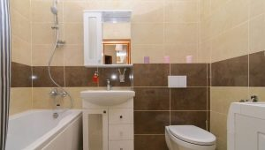 Beautiful design options small combined bathroom with washing machine