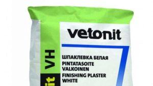 Egenskaper av fuktresistent kitt Vetonit VH