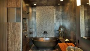 Bathroom tile: original ideas in the interior