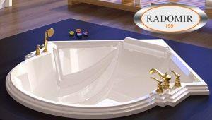 Radomir baths: popular models