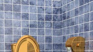 Gyllene toaletter: lyxigt badrumsinredning