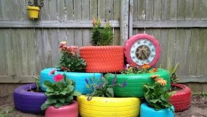 Tire decor: the subtleties of creating unusual elements