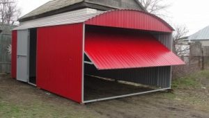 How to build a barn of corrugated?