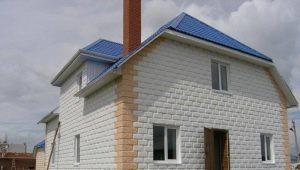 Case di blocchi di schiuma: progetti e costruzioni