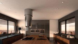 Round hood in kitchen design