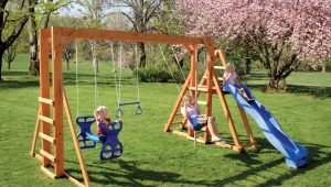 Children's street swing for giving: types, tips on choosing and making