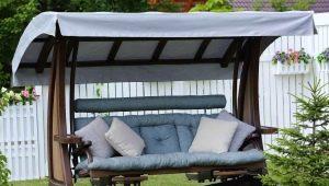 Varieties and tips on choosing covers for garden swings