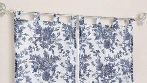 Velcro gardiner: typer, funktioner och exempel på fönster dekoration
