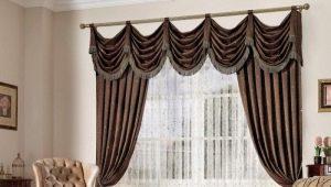 Typer av gardiner med lambrequin och tips om att välja