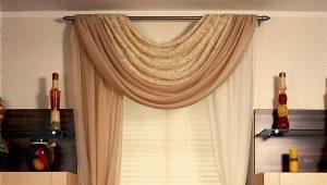 Välja gardiner i ett litet fönster