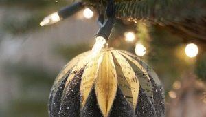 Noel süslerini kendi elleriyle kağıdın dışında yapmak