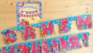 Garlands Happy Birthday!: Varyasyonlar ve yapım kılavuzu