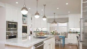 रसोईघर में रहने वाले कमरे की रोशनी की विशेषताएं