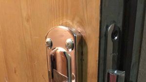 Features of the repair of metal door handles