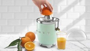 साइट्रस juicers: प्रकार, चयन और उपयोग