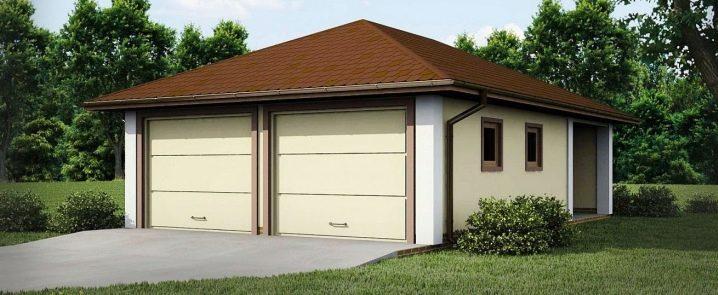 Garageprojekt för 2 bilar: layoutfunktioner