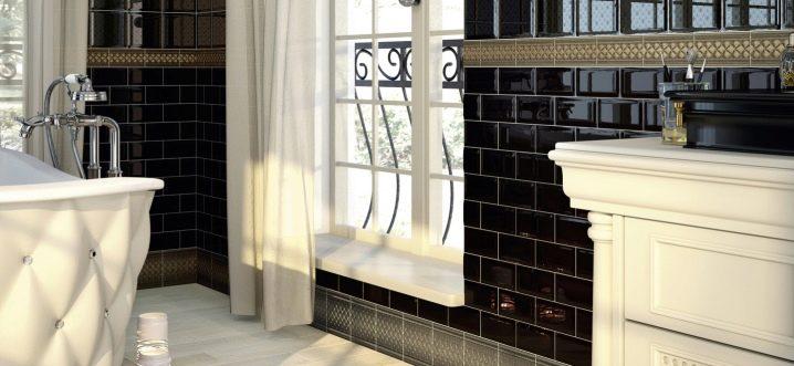 Tile features hog bathroom
