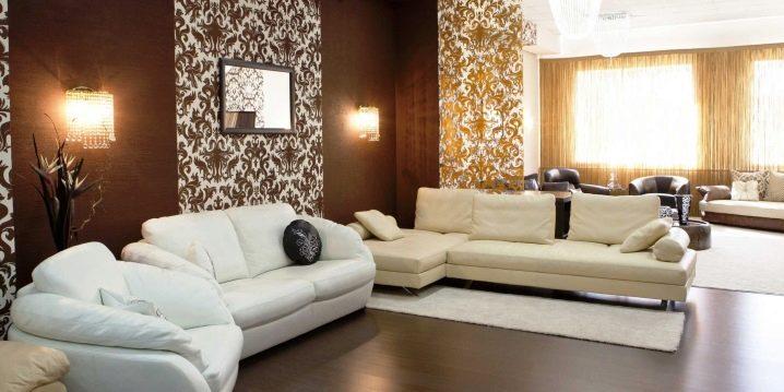 Quel papier peint dans la salle: de belles solutions