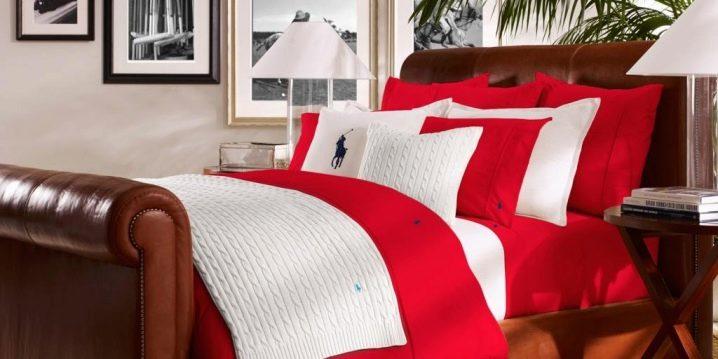 Rött sängkläder: egenskaper och färg effekter