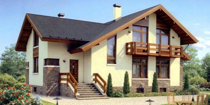 Decorazione esterna moderna di case in calcestruzzo aerato