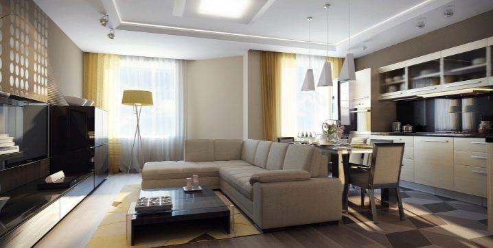 Design egyszobás apartman 35 négyzetméter. m.