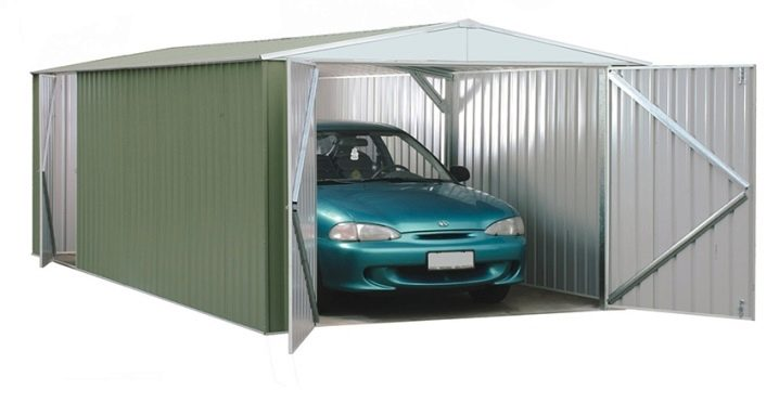 Hur man gör ett garage från ett professionellt ark med egna händer?