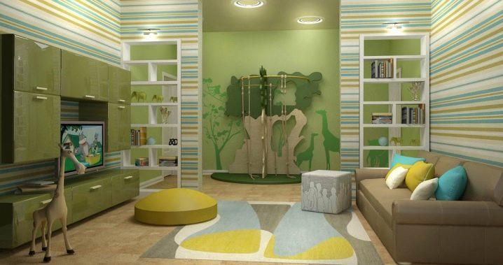 Hur kombinerar vardagsrum och plantskola i samma rum?