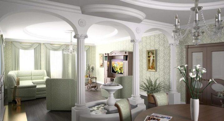 Arco de diseño en el interior del apartamento.
