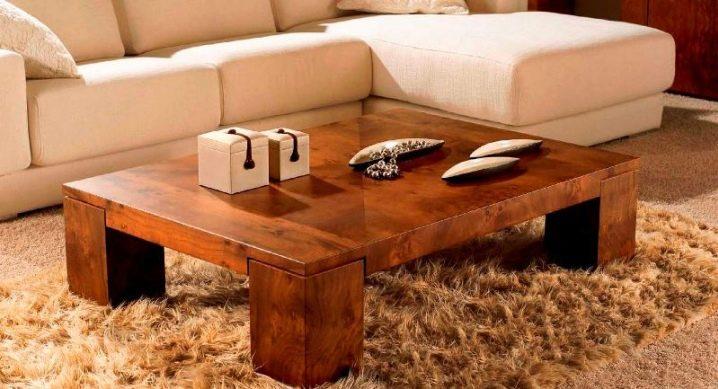Table basse: idées de mode à l'intérieur