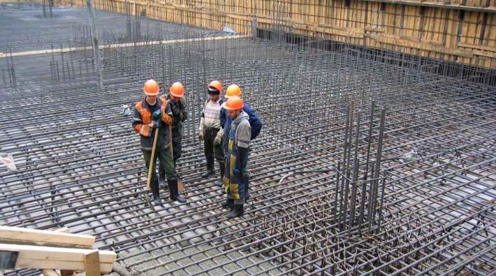 Proportionerna av betong för grunden