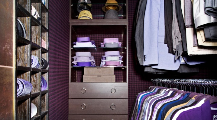 Wardrobe room area of ​​2 square meters. m