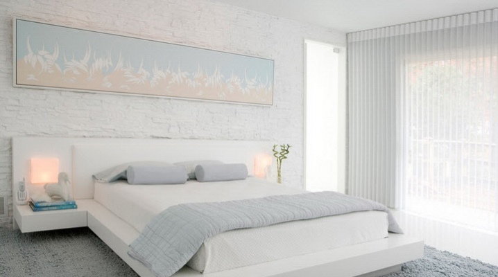 Bedroom in the style of minimalism