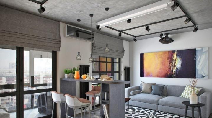 Apartament typu studio o powierzchni 27 metrów kwadratowych. z balkonem