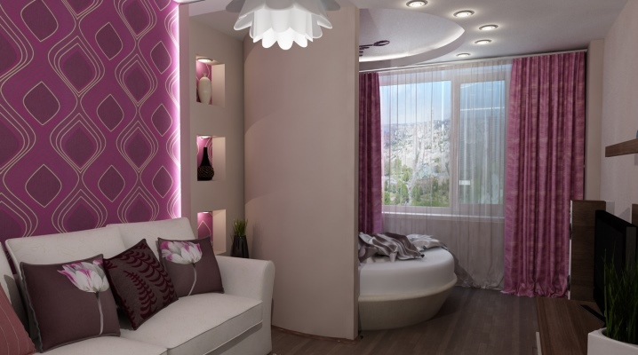 Design sovrum vardagsrum på 18 kvadratmeter. m