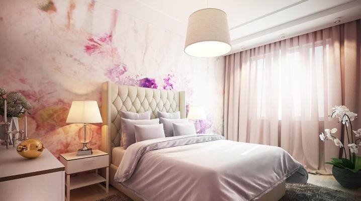 18 वर्ग मीटर के डिजाइन बेडरूम क्षेत्र। मीटर