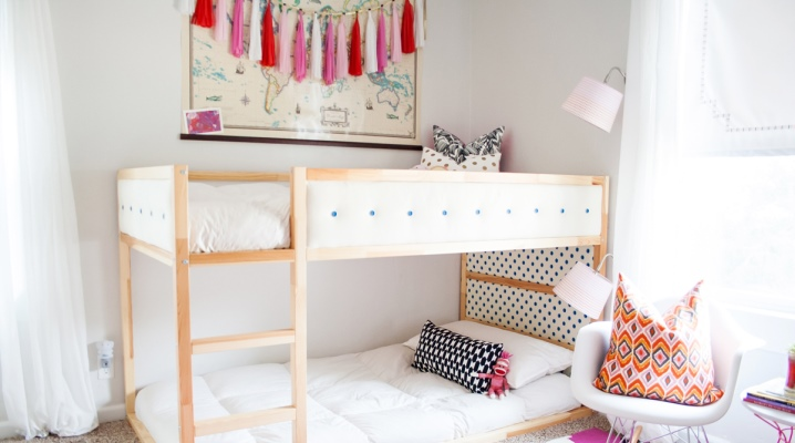 Ikea Bunk Bed 55 Photos Assembly Instructions Interior Ideas For Children And Adults White Models With A Table Sizes Reviews