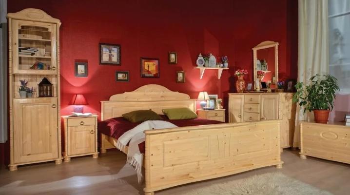 ठोस लकड़ी से बेडरूम फर्नीचर