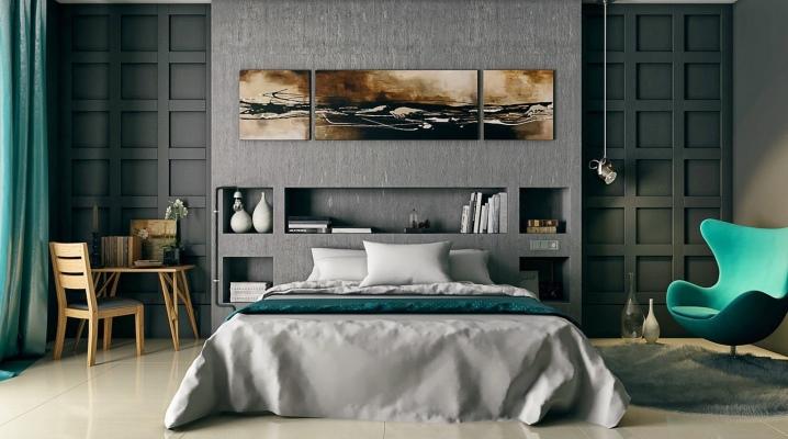 Chambre bleu-gris