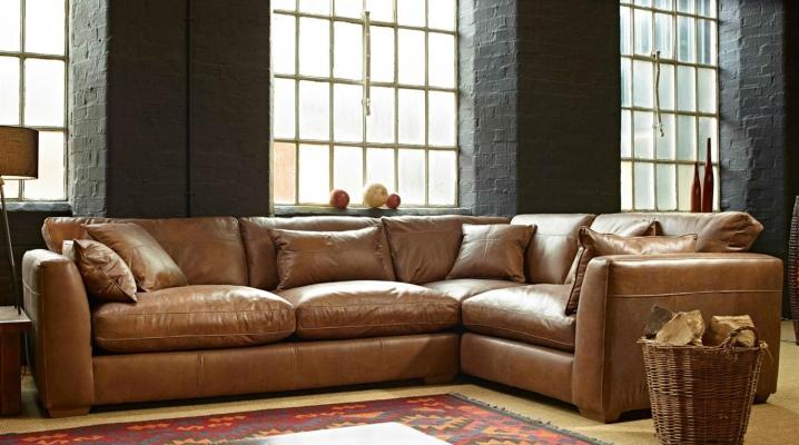 Canapé d'angle avec lit