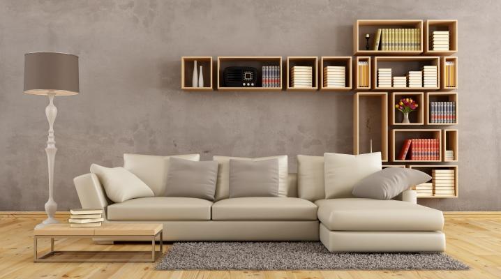 Canapés d'angle dans le salon