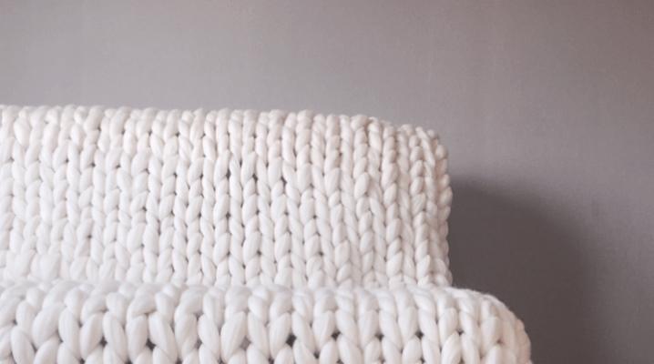 Couvertures en laine mérinos à grosses mailles