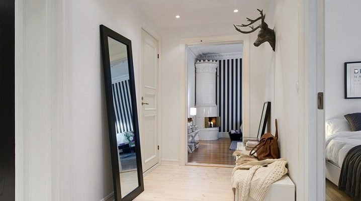 Interior design of the hallway in various styles