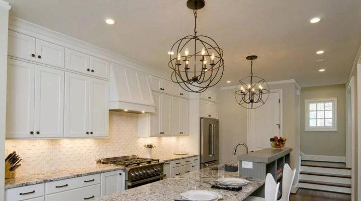 Lampu Chandelier Dapur 25 Foto Siling Dengan Lif Di