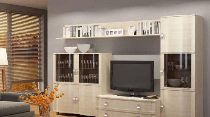 Möbler väggar i olika stilar