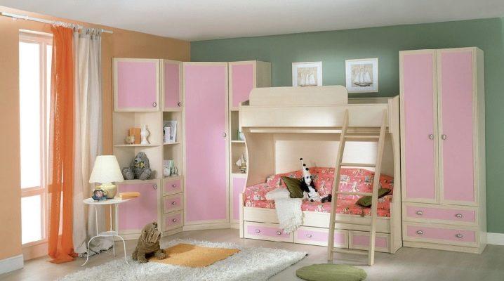 Välja en garderob i barnkammaren för flickor