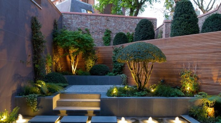 Trees, shrubs and flowers in landscape design