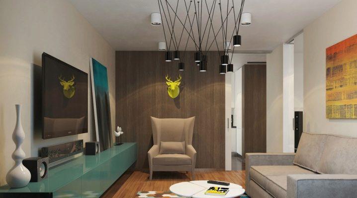 Design appartement d'une chambre de 50 mètres carrés. m: exemples d'intérieurs