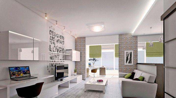 Design av en två-rumslägenhet på 60 kvadratmeter. m: designidéer